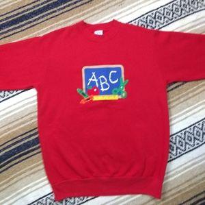 ABC TEACHERS SWEAT SHIRT VINTAGE